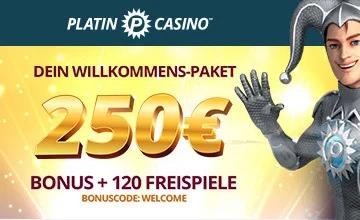 Platin Casino - Jetzt Platin Slot Bonus sichern!