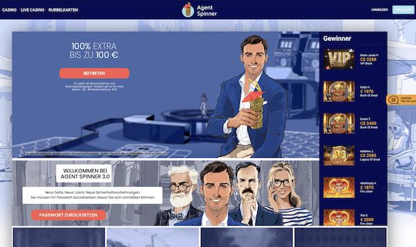Agent Spinner Casino Erfahrungen und Test