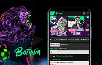 Betinia Sportwetten mobil