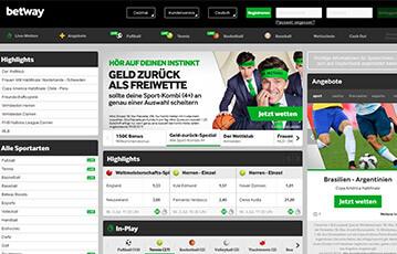 Betway Sportwetten Angebot