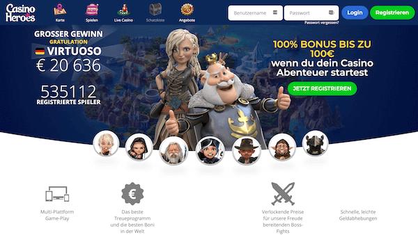 Casino Heroes Pros und Contras
