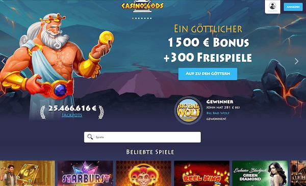 Casino Gods Pros und Contras