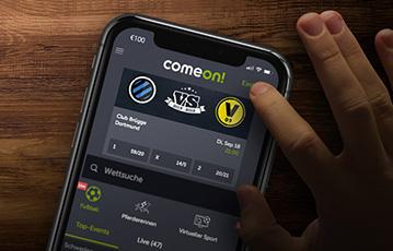 ComeOn Sportwetten mobil