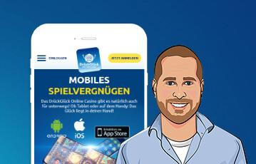 DrückGlück Casino mobiles Spielen