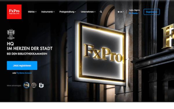 FXPro Pros und Contras