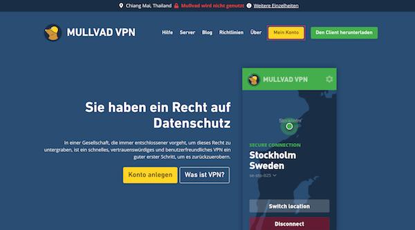 Mullvad VPN Erfahrungen und Test