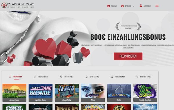 Platinum Play Casino Erfahrungen und Test