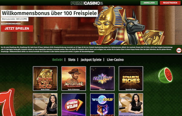 Prime Casino Pros und Contras