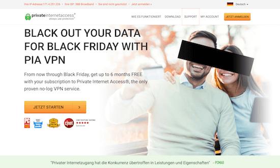 Private Internet Access Erfahrungen und Test