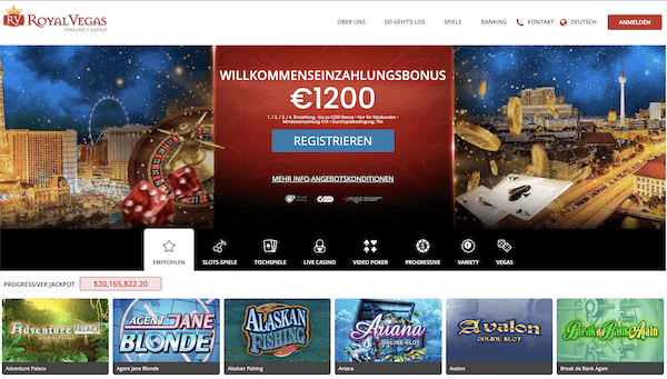 Royal Vegas Casino Pros und Contras