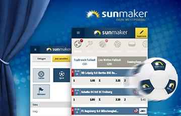 Sunmaker Sportwetten mobil