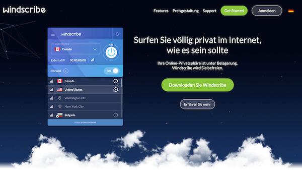 Windscribe VPN Pros und Contras