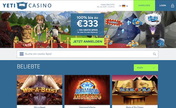 Yeti Casino Erfahrungen und Test